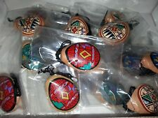 (Lot 2) Peruvian Hand Painted Clay Ocarina ~ necklace ~ new/sealed