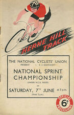 NATIONAL SPRINT CHAMPIONSHIP 7 Jun 1947 TRACK CYCLE RACE MEETING PROGRAMME