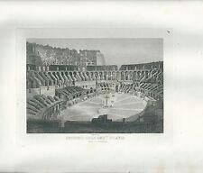 1848 ROMA INTERNO DELL'ANFITEATRO FLAVIO acquaforte su rame Cottafavi Colosseo