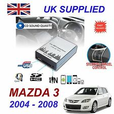 MAZDA 3 2004 -08 MP3 SD USB CD AUX Input Audio Adapter Digital CD Changer Module