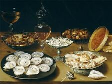 OSIAS BEERT ELDER FLEMISH DISHES OYSTERS FRUIT WINE ART PAINTING POSTER BB6216A