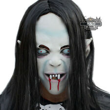 Halloween Artificial Hair Rubber Witch Ghost Vendetta Sadako Pullover Scary Mask