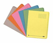 100x Elba Square Cut Folder Pre-punched 180gsm A4, Yellow Manilla Paper BNIB