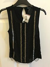 NEW WITH TAGS Size 4 Topshop Vintage Style Beaded And Sequin Top
