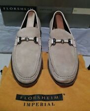 New Florsheim Imperial Parker 10 D sand sueded leather (620)