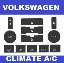 04 – 09 VW Volkswagen Touareg A/C climate control Button Repair Decals Stickers