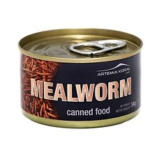 Premium Quality Fresh Sealed Canned Regular Mealworms 35 gram Can