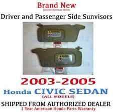 2003- 2005 Honda CIVIC SEDAN Sunvisor SET (IVORY) Genuine Factory OEM