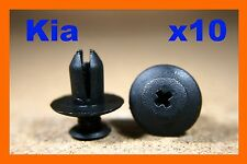 10 Kia Wheel arch lining panel mud guard plastic fastener push screw clips 8mm