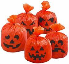 Halloween PRATO DECORAZIONI ZUCCA Appeso Foglia Borse Confezione da 20 NUOVO di zecca