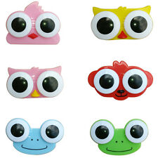 Cartoon Lovely Owl Frog Big Eye Storage Contact Lens Box Case Holder For Travel