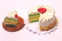 1:12 Scale Sliced Lime Layer Cake Dolls House Miniature Kitchen Accessory SC18