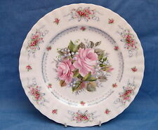 Royal Albert Plate ~ Pink Roses ~Happy Birthday Plate ~First Edition ~Bone China