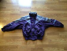 Women's Descente Purple Polyester/Nylon Winter Ski Snow Jacket Size: 10