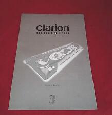 Clarion 2004 Car Audio & Navigation Catalogue VRX NAX DXZ DB, UK Market Brochure