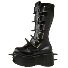 DEMONIA GOTHIC METAL UNDERGROUND FETISH UNISEX WICKED-800 SPIKED BOOTS SHOES 8