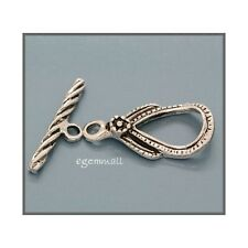 925 Silver Antique Pear Toggle Clasp 10x21mm #51387