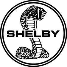 "Shelby Cobra Racing Car Bumper Sticker 5"" x 5"""