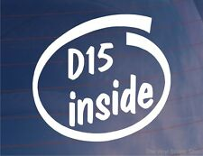 D15 INSIDE Novelty Car/Window/Bumper Vinyl Sticker - Ideal For Honda Civic/CRX