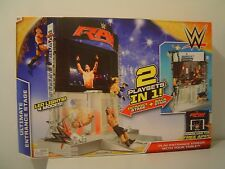 WWE ULTIMATE ENTERTAINMENT STAGE 2 PLAYSETS IN 1 LED LIGHTS 4 MODES FREE APP