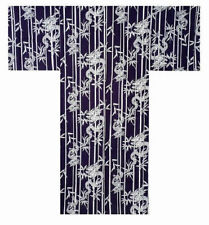 "Japanese 60"" Men's 100% Cotton Yukata Kimono Lucky Dragon & Bamboo Made in Japan"