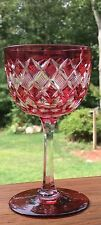 ABP Cut Glass Cranberry to Clear Wine