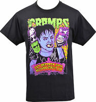 MENS BLACK T-SHIRT THE CRAMPS HOLLYWOOD GIG FLYER LUX INTERIOR GARAGE S-5XL
