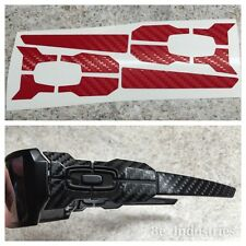 Oakley Oil Rig / Oilrig - Red Carbon Fiber Vinyl Skin Wrap