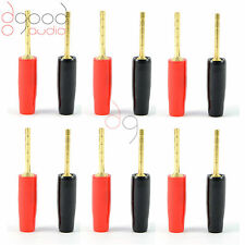 12 x Gold Plated Speaker Pins 2mm Banana Plug Quality Screw Terminal Connectors