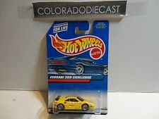 2000 Hot Wheels #162 Yellow Ferrari 355 Challenge w/5 Spoke Wheels