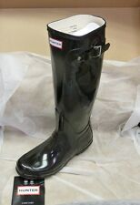Hunter Original Gloss W23616 Rubber Boots Sz 5 - Black New!