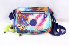 KIPLING Sabian Blue Butterfly Multi-color Mini Small Crossbody Travel Bag Purse