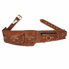 Practical Pixie Pocket Leather Travel Utility Belt Bag Fanny Pack-70117