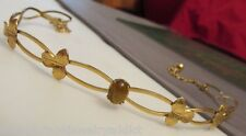 Vintage 14k Gold Filled WELLS Tigers Eye Floral WIRE Necklace or Hair Tiara