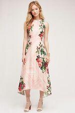 NWT ANTHROPOLOGIE Pankaj & Nidhi Butterfly Garden Midi Dress 2 Pink Floral Beads