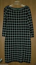 Ralph Lauren Womens Plaid Jersey Knit, Boat Neck Dress, Sz.XL.NWT.100% Authentic