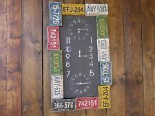 Reloj De Pared EE. UU. número de matrícula Reloj multicolores Vintage/Retro