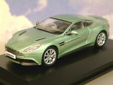 OXFORD DIECAST 1/43 2012 ASTON MARTIN VANQUISH COUPE IN APPLETREE GREEN AMV001