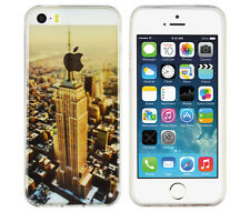 TPU Case für Apple iPhone SE / 5 S Schutzhülle Tasche Cover New York USA Skyline