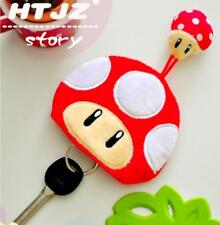 Super mario BROS mushroom plush coin bag handbag key holder key chain handbag cu