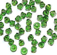 SCB336f FERN GREEN 4mm Xilion (5328) Bicone Genuine Swarovski Crystal Bead 48/pk