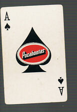 Playing Swap Cards 1 GENUINE  VINTAGE  U.S. SPADE ACE  / ACES OF SPADES W15