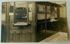 1914 REAL PHOTO POSTCARD INTERIOR VIEW THE FIRST NATIONAL BANK OHIO TELLERS CAGE