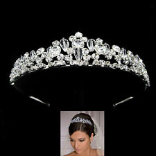 3.5cm High Full Crystal Big Beads Luxury Wedding Bridal Prom Party Crystal Tiara