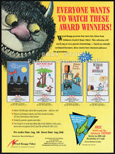 CHILDREN'S CIRCLE Video__Original 1994 Trade AD promo__WHERE THE WILD THINGS ARE