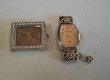 SET OF 2 SILVER & GOLD  FINISH  WATCH FACES FOR BEADING,RIBBON OR OTHER USE