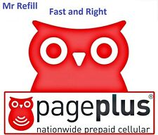 PagePlus $80 Refill: 2000 minutes / 365 Days, applied to phone directly
