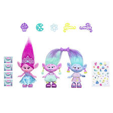 Trolls Poppy and Twins Celebration Pack 3 characters DreamWorks Trolls Movie