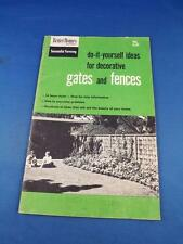 DO IT YOURSELF IDEAS DECORATIVE GATES FENCES BOOKLET 14 FENCE STYLES 1954