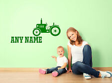Personalised Farm Tractor Any Name Wall Sticker Decals Kids Playroom Decor